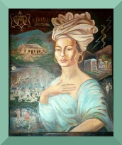Portrait of Marie Laveau from the Voodoo Museum