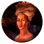Marie Laveau Legendary Voodoo Queen Portrait Round