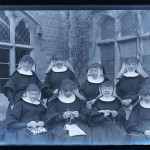 nuns - glass plate negative