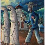 """Zonbi"" painting by Haitian artist Wison Bigaud 1939"