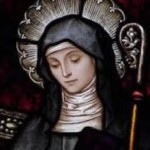 The Lwa Maman Brigitte is loosely associated with St. Brigid, although she is rarely if ever invoked under this image.