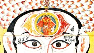 Opening the Third Eye - Image of Brow Chakra from Rajasthan India 18th Century